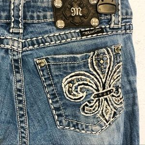 Miss Me skinny jeans size 28 embellished